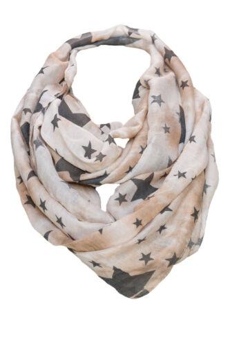 Femmes LOOP écharpe Loopschal écharpe tube tuyau astérisque étoiles Chiffon foulard