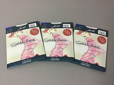 NWT Hanes Nordstrom The Sheer Illusion  Pantyhose Two Plus Nude 3 Pair