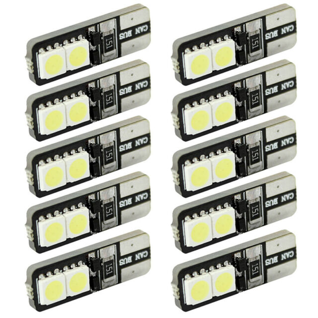 1pc Canbus Error Free Led White T10 168 194 W5W Wedge 4 Smd 5050 Light Bulb、New