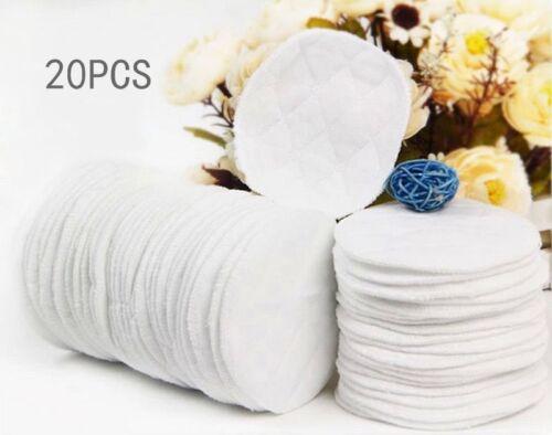 20x Bamboo Reusable Breast Pads.Nursing Organic Plain Washable Pads High Quality