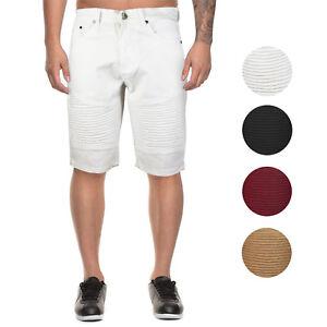 Marx-amp-Dutch-Men-039-s-Moto-Biker-Quilted-Slim-Fit-Cotton-Stretch-Twill-Shorts