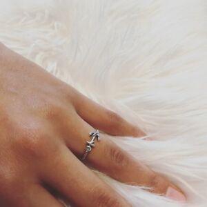 Damen-Anker-Ring-925-echt-Sterling-Silber-groessenverstellbar-stylisch-Silberring