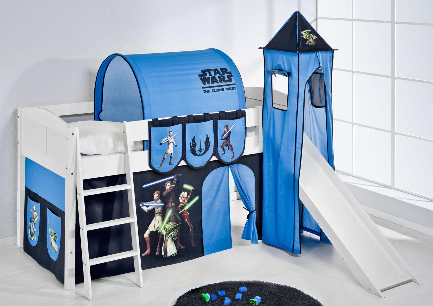 Letto Gioco a Castello con Torre e Scivolo 4106 Lilokids Star Wars