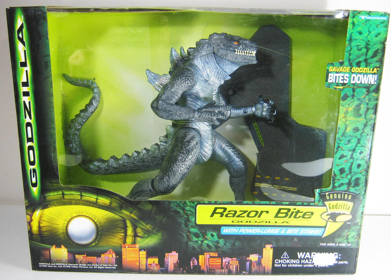 1998 TRENDMASTERS Godzilla Razor Bite 10  Figura Europea Menta en caja sellada Sellado Nuevo