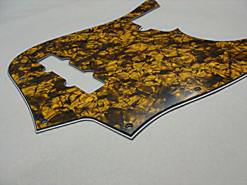 D/'ANDREA PRO JAZZ BASS PICKGUARD 10 HOLE GOLD PEARLOID MADE IN THE USA