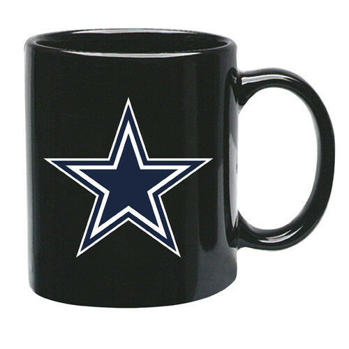 Dallas Cowboys 15-Ounce Black Ceramic Mug