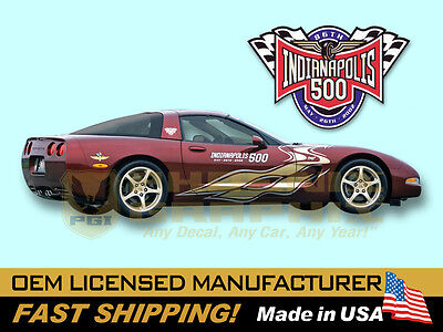 BrotherhoodProducts 2006 Chevrolet Corvette Indy 500 Pace Car Decals Pack of Four