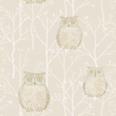 Gold - TAWNY/001 - Tawny Owl - Compendium - Blendworth Wallpaper - TO CLEAR