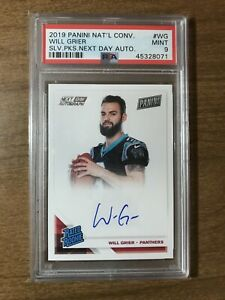 2019 Panini Next Day Autograph Will Grier Auto RC Rookie Card PSA 9 MINT INVEST