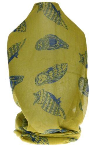 Large Soft Chiffon Owl Print Scarf Animal Design Neck Head Accessories