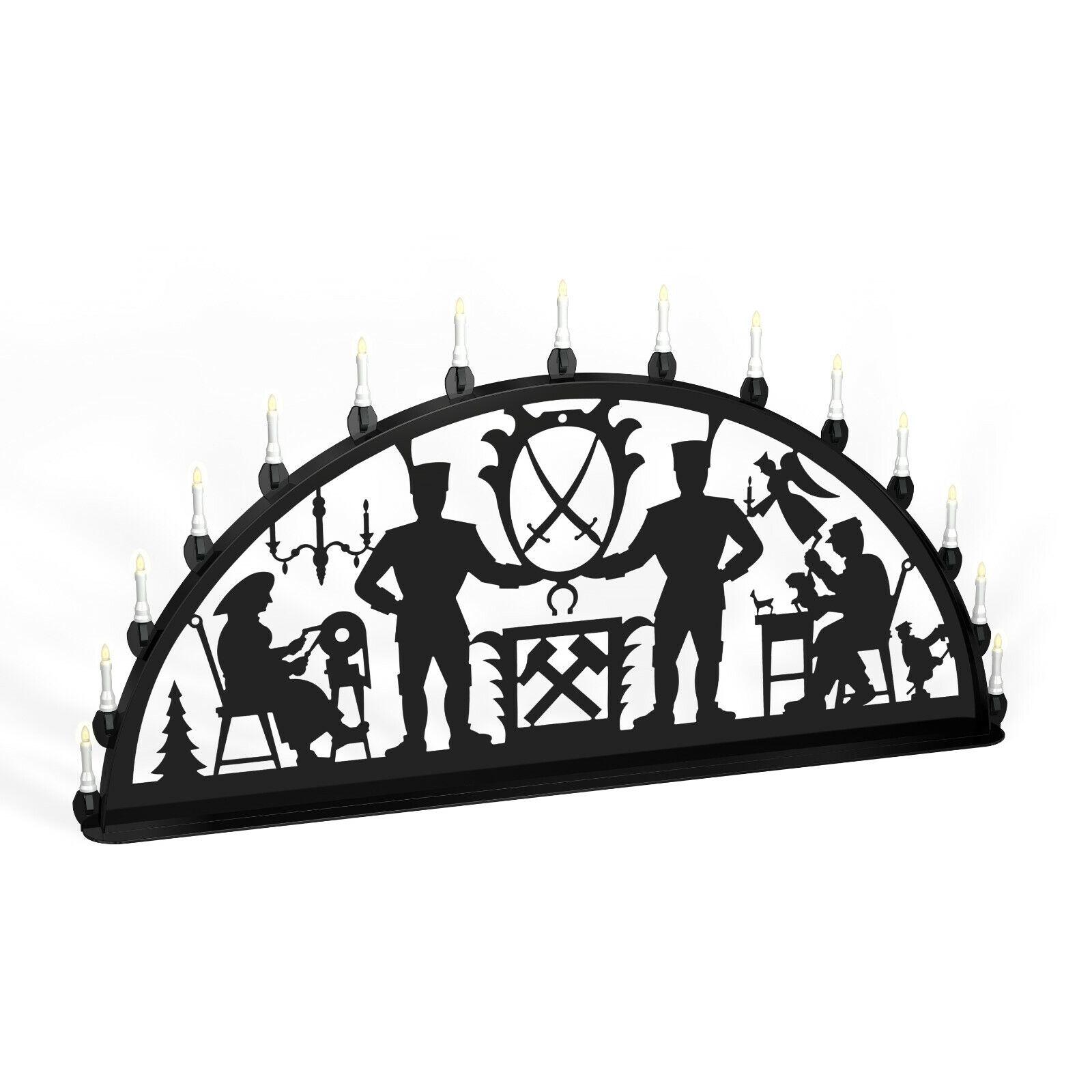 Arc Arc Lumineux Erzgebirge Bergmann Métal XL Extérieur Noir
