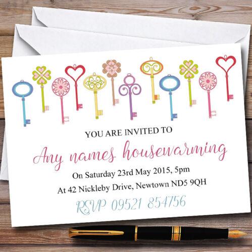 Variety Of Keys Personalised Housewarming Party Invitations