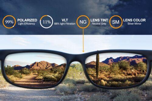 Polarized IKON Lentilles De Remplacement Pour Spy Optic Cooper lunettes de soleil argent miroir