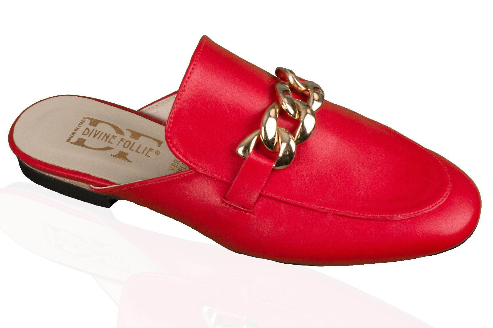 DAMEN Schuhe LEDER Schuhe DAMEN  Damenschuhe Sandalen Pantoletten Sommerschuhe ITALY 837aab