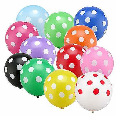 10,20,50,100 pcs Latex Polka Dot Balloon Party Wedding Birthday Decorating 12""