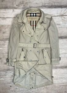 AUTH-Femme-Burberry-Brit-Beige-Trench-coat-Taille-UK10-US8-S-M