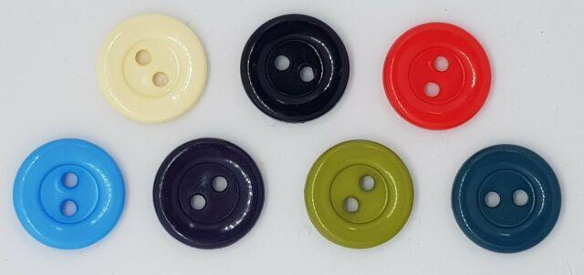 Cardigan Carsini Italian Shiny Plastic Buttons x 10pcs 2 HOLE 15mm