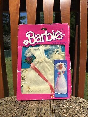 Mattel 1984 Barbie Wedding Party Bride Dress NRFB W// FREE SHIPPING