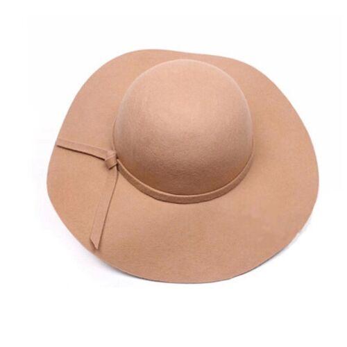 Women Wide Brim Summer Beach Sun Bow Hat Straw Floppy Elegant Bohemia Derby Cap