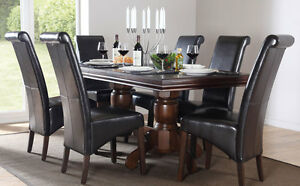 Awe Inspiring Details About Chatsworth Extending Dark Wood Dining Table And 6 Chairs Set Boston Dark Brown Onthecornerstone Fun Painted Chair Ideas Images Onthecornerstoneorg
