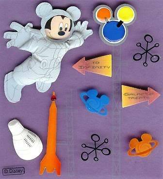 EK Success Jolees Boutique Sticker SPACE MICKEY