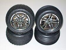 Traxxas Nitro Rustler/Sport twin Spoke Tires an Rims