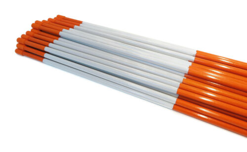 Pack of 10 Snow Poles 48 inches Orange with Reflectors 1//4 inch Heavy Duty