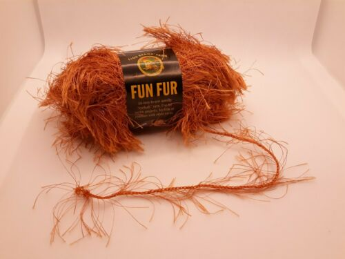 Lot of 3 Vintage Lion Brand Lion Fun Fur Copper Eyelash Yarn Crochet Knitting