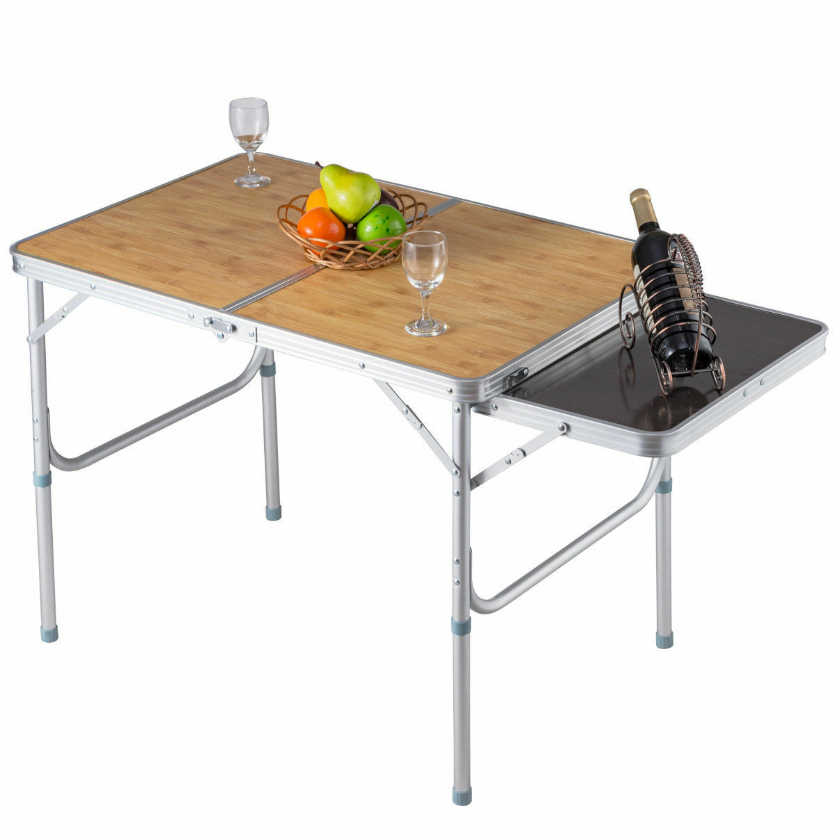 Portable Folding Picnic Camping Trade Show Table Indoor Outdoor Patio Furniture