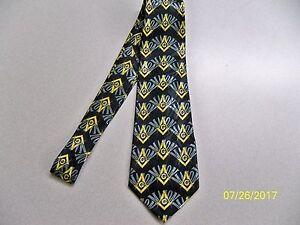 Masonic Mason Fraternal Freemasonry compass quality mens necktie #6 square