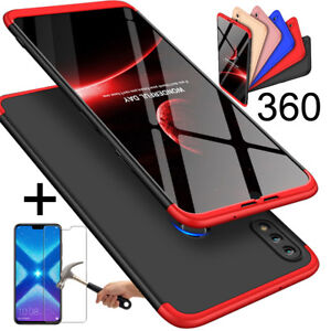 Details about Huawei Honor 8X / 8X Max Best 360° Full Cover Matte Bumper  Case + Tempered Glass