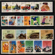China Macau Macao Sc# 560 561-564 565-567 --580-582 1988 Whole Year 7 Set Stamps