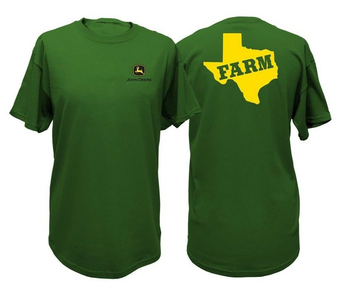 NEW John Deere Green State of Texas Farm T-Shirt Size M L XL 2X