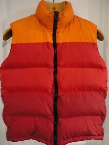more photos 8858f 9b303 Details about ASPESI NORD Multi-Colored Orange Red Burgundy Goose Down  Puffy Vest S Italy