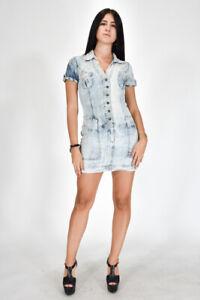 GUCCI-Vestito-di-Jeans-Corto-Elegante-Denim-Blu-Taglia-M-Donna-Casual-Woman