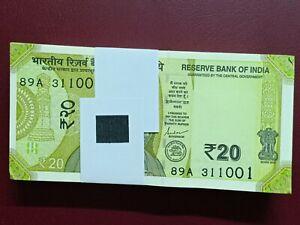 New Design India 2019 Gandhi 20 Rupees Banknote UNC P-NEW