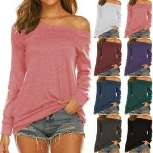 "Women Long Sleeve /""FAITH HOPE LOVE/"" T-Shirt Blouse Baggy Pullover Plus Size Top"
