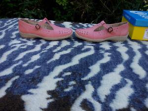 En Wide Eu 7 Easyb Chaussures Linda 40 Cuir Rose Rose Uk MpqUzVS
