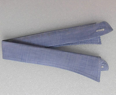 RAF blue collar size 17.5 vintage 1930s 1940s semi stiff trubenised WW2