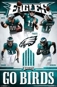 Philadelphia Eagles GO BIRDS 2018 NFL Action Wall POSTER -Darby ... 499e69b32