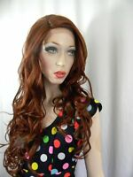 Heat Ok .. Lace Front 30 Sasha Wig - Sepia .. Pin Part Color T33.130 Reds