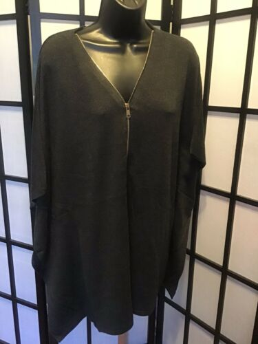 Poncho Women's xl Colour Charcoal 765072555888 Zipper L Works RUtwxfBq