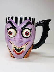 Department-56-Halloween-Dracula-Mug-with-Googly-Eyes-Rare-pre-owned
