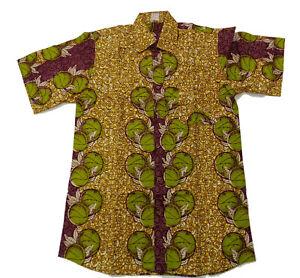 2019 Neuer Stil Afrikanisches Hemd 100% Baumwolle Handarbeit Aus Burkina Faso Waxprint Kurzarmig