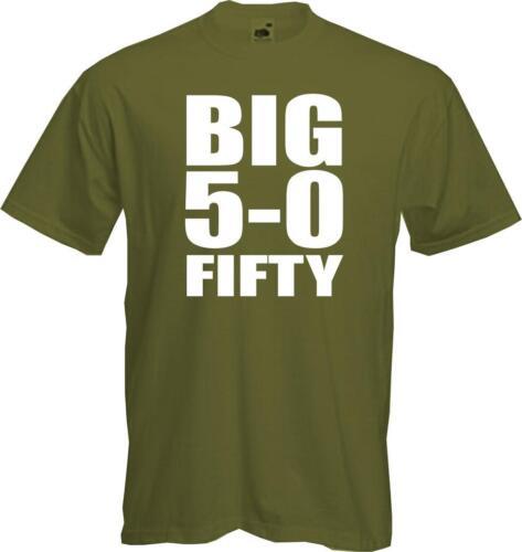 Big 5-0 cinquante 50e anniversaire T Shirt-cadeau rétro fun-QUALITÉ-NEUF