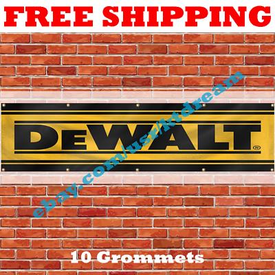 DeWalt Tools Banner Flag 2x8 Ft Wall Decor Garage Shop Man Cave New Large Banner