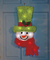 Christmas Holiday Color-changing Lighted Snowman Or Santa Wall Door Hanger Decor