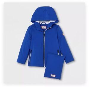 c6e17cf1b Image is loading Hunter-X-Target-Blue-Packable-Raincoat-18-Months