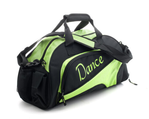 Medium Sparkly Lime Green Dance Ballet Tap Kit Holdall Sports Bag KB87 By Katz