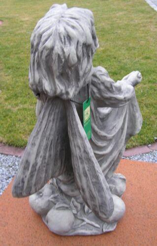 """FLOWER FAIRY /""""APFEL/"""" Steinguss Gartenfee Vidroflor Gartendeko Figur Skulptur"""